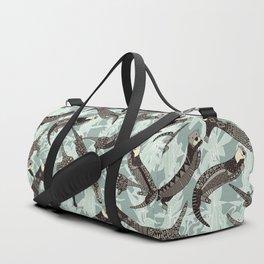 sea otters silver Duffle Bag