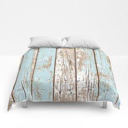 WOOD BLUE TEXTURE Comforters