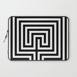 Cretan labyrinth in black and white Laptop Sleeve