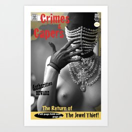 The Jewel Thief Returns. Queen Pulp Series Art Print