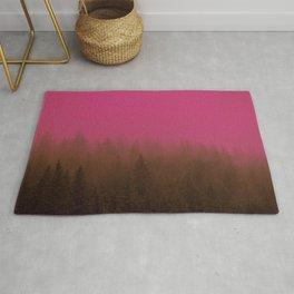 Pink & Chocolate Taffy Fog - Seward, Alaska Rug
