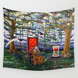 Waiting Death Wall Tapestry