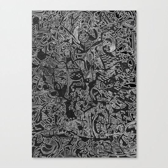 White/Black #3 Canvas Print
