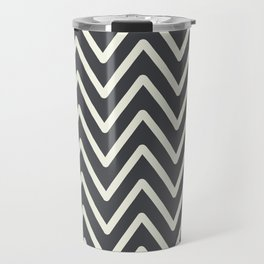 Chevron Wave Asphalt Travel Mug