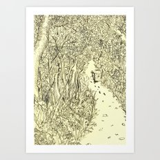 following footprints Art Print