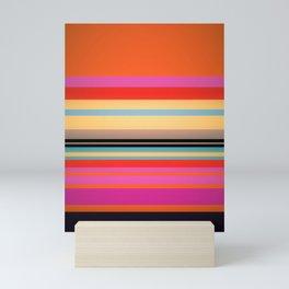 Sunset Stripes Mini Art Print