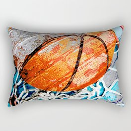 Modern basketball art 3 Rectangular Pillow