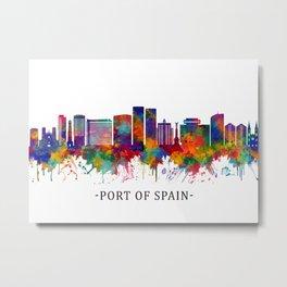 Port Of Spain Trinidad and Tobago Skyline Metal Print