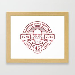 Gregg Berryman Emblem Framed Art Print