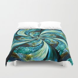Water Wheel Duvet Cover
