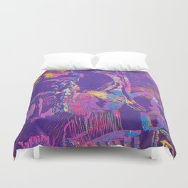 Pink and purple abstract pattern design Duvet Cover