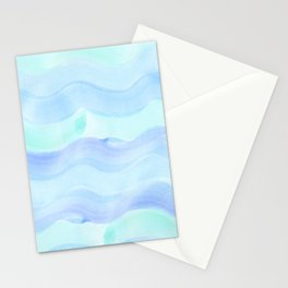 water color waves Stationery Cards