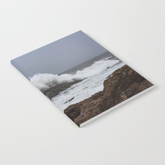 Wave splashing on the rocks Notebook