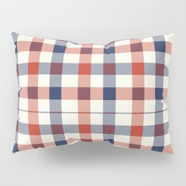 Plaid Red White And Blue Lumberjack Flannel Design Pillow Sham