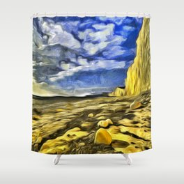 Birling Gap And Seven Sisters Van Goth Shower Curtain