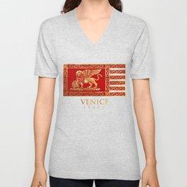 Venetian Lion Unisex V-Neck