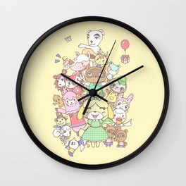 Animal Crossing (yellow) Wall Clock