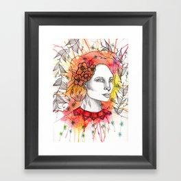 Floral Lady 2 Framed Art Print
