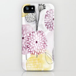Petals and flowers iPhone Case