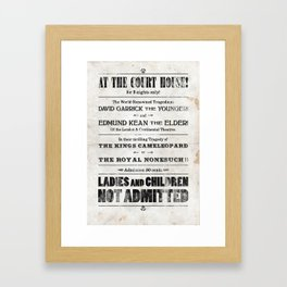 The Duke & The King Framed Art Print