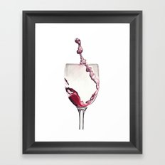 Relax, there's wine! Framed Art Print