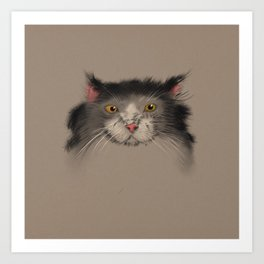 fury cat with following eyes Art Print