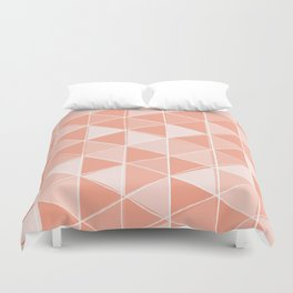 Coral Triangles Duvet Cover