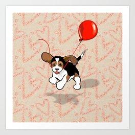 The Love Puppy — Balloon Art Print