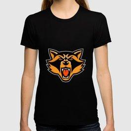 Angry Raccoon Head Mascot T-shirt