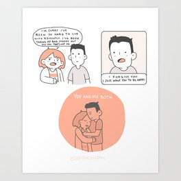 Just Want You To Be Happy Art Print