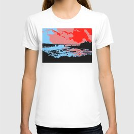 Railway bridge Haparanda/Tornio color T-shirt