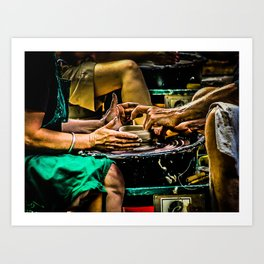 Potters'  Wheel Art Print