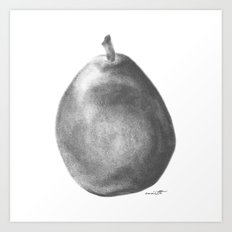 Pear Grey Art Print