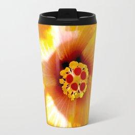 Yellow Hybiscus Travel Mug