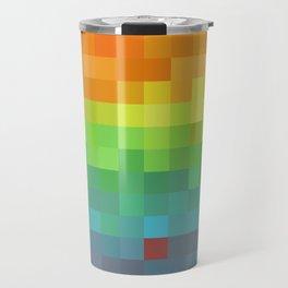 Pixel Rainbow Travel Mug