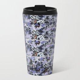 Purple Pattern Metal Travel Mug