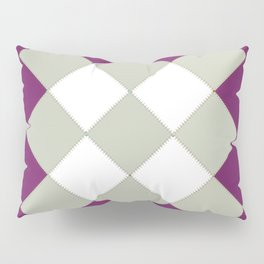 "Geometric Print ""Quilted"" Pillow Sham"