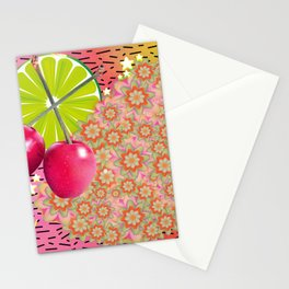 Candied Fruities, Flowered Cooties Stationery Cards