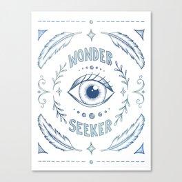 Wonder Seeker - Blue Canvas Print
