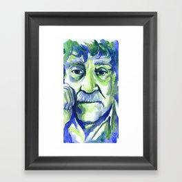 Green Vonnegut Framed Art Print