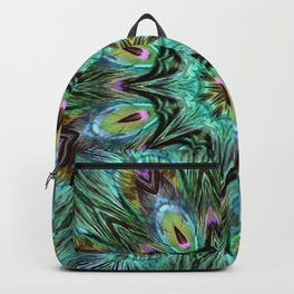 Colorful Peacock Feather Kaleidoscope Backpack