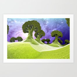 Broccoli Planet Art Print