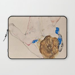 "Egon Schiele ""Nude with Blue Stockings, Bending Forward"" Laptop Sleeve"