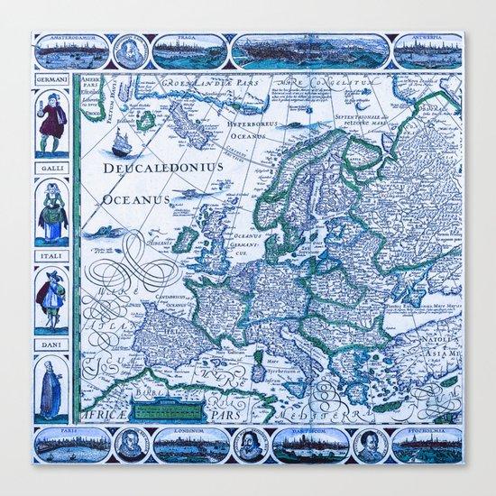 Royal Vintage Map Canvas Print
