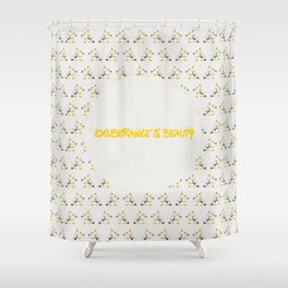 Exuberance is beauty patterned Shower Curtain