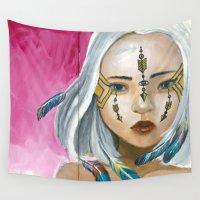 indigo Wall Tapestries featuring Indigo by Nataliette