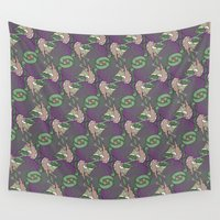 wizard Wall Tapestries featuring Wizard tessellation by Feene