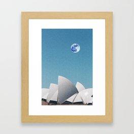 Sydney Opera House, Sydney, Australia Travel Poster Framed Art Print