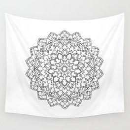 White Lace Mandala Wall Tapestry