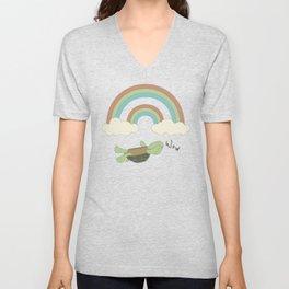 Double Rainbow - wow Unisex V-Neck
